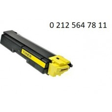 Kyocera FS-C 2026-2126-2526-5250-6026-6526 Yüksek Kapasite Sarı Muadil Toner - Kyocera TK-590 Toner