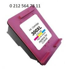 Hp 300XL Renkli Yüksek Kapasite Muadil Kartuş - Hp CC644E Kartuş